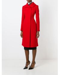 Dolce & Gabbana - Red Double Breasted Coat - Lyst