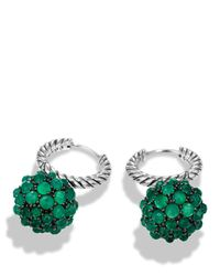 David Yurman - Osetra Earrings With Green Onyx - Lyst