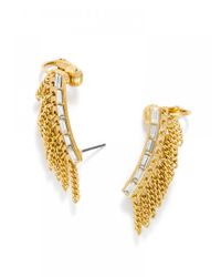 BaubleBar | Metallic Ice Fringe Ear Crawlers | Lyst