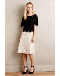 HD In Paris | White Diamond Dot Vegan Leather Skirt | Lyst