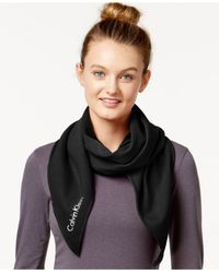Calvin Klein | Black Performance Jersey Oversized Bias-cut Scarf | Lyst