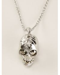 Alexander McQueen | Metallic Skull Necklace for Men | Lyst