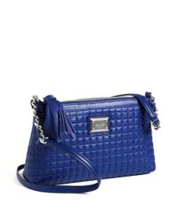 Calvin Klein | Blue Quilted Leather Crossbody Bag | Lyst