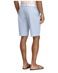 "Brooks Brothers - Blue 11"" Seersucker Bermuda Shorts for Men - Lyst"