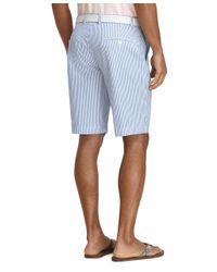 "Brooks Brothers | Blue 11"" Seersucker Bermuda Shorts for Men | Lyst"