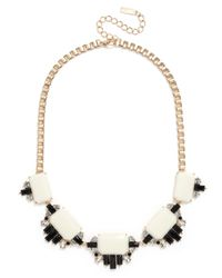 BaubleBar - White Crystallized Cabochon Necklace - Lyst