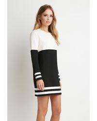 Forever 21 - Black Stripe-trim Colorblocked Dress - Lyst