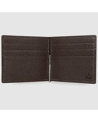4853ba295c5a Lyst - Gucci Soho Leather Money Clip Wallet in Brown for Men