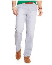 Polo Ralph Lauren - Blue Classic-Fit Maritime Seersucker Pants for Men - Lyst