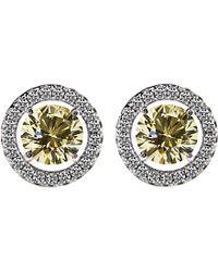 Carat* - Multicolor Round 0.5ct Yellow Borderset Stud Earrings - Lyst
