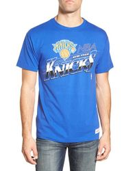 Mitchell & Ness - Blue 'new York Knicks - Last Second Shot' Graphic T-shirt for Men - Lyst