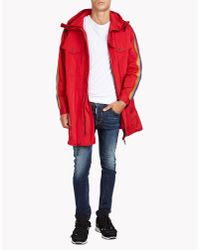 DSquared² - Red Rainbow Short Parka for Men - Lyst