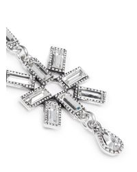 Philippe Audibert - Metallic Star Strass Drop Earrings - Lyst