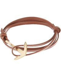 Miansai | Brown Matte Anchor Leather Bracelet - For Men for Men | Lyst