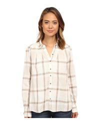 Free People - White Slubby Yarn Dyed Cotton Peppy In Plaid - Lyst