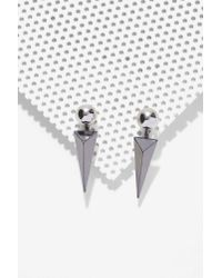 Nasty Gal | Metallic On The Edge Earrings | Lyst