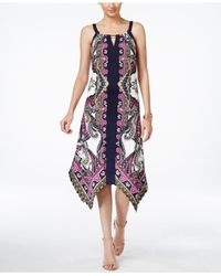 INC International Concepts - Multicolor Petite Printed Handkerchief-hem Sheath Dress, Only At Macy's - Lyst