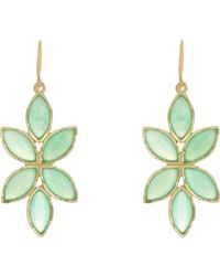 Irene Neuwirth | Green Women's Floral Drop Earrings | Lyst