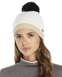 Steve Madden | Natural Choose Sides Beanie | Lyst