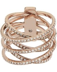 Michael Kors | Metallic Brilliance Pavé Criss-cross Ring | Lyst
