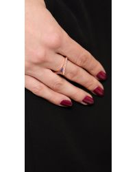 Eddie Borgo - Blue Tuareg Ring 6 Rose Gold - Lyst