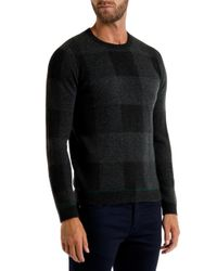 Ted Baker - Gray Lowgan Checked Jumper for Men - Lyst