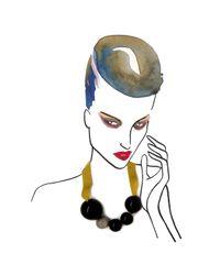 Marion Vidal | Orange Black Ceramic Pendant | Lyst