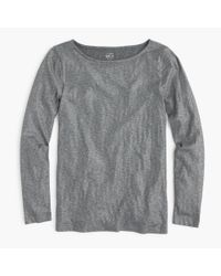 J.Crew | Gray Metallic Long-sleeve Painter T-shirt | Lyst