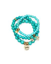 Sequin | Blue Calm Dove Bracelets, Set Of 3 | Lyst