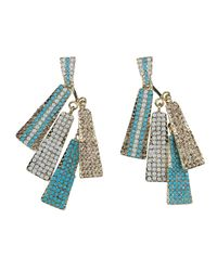 Gemini - Blue Layered Rectangle Earrings - Lyst