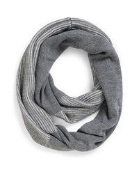 Calvin Klein | Gray Shaker Stitch Infinity Scarf | Lyst