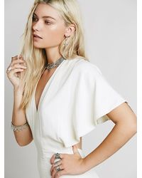 Free People | White Sahara One Piece | Lyst