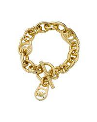 Michael Kors Metallic Heritage Gold Link Chain Bracelet