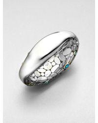 John Hardy | Metallic Semiprecious Multistone Pebble Cuff Bracelet | Lyst