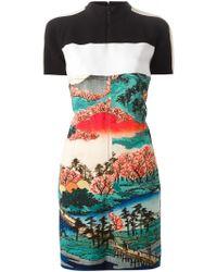 Carven - Black Landscape Print Dress - Lyst