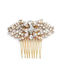 Halo | 'edith' Crystal Hair Comb - Metallic | Lyst