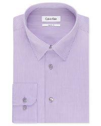 Calvin Klein - Light Purple Stripe Dress Shirt for Men - Lyst