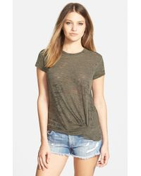 Stateside - Green Burnout Twist Front Tee - Lyst