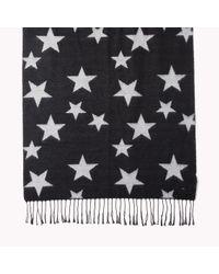 Tommy Hilfiger - Black Elodie Printed Scarf - Lyst
