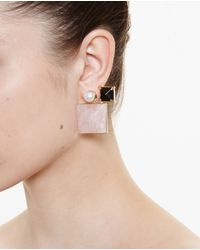 Volha - Pink Geometric Earrings - Lyst