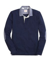 Brooks Brothers | Blue Chambray Rugby for Men | Lyst