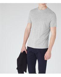 Reiss | Gray Bless Marl Crew Neck T-shirt for Men | Lyst