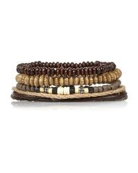 River Island | Brown Beaded Bracelets Pack for Men | Lyst