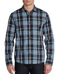 Michael Kors - Multicolor Bold Plaid Cotton Sport Shirt for Men - Lyst