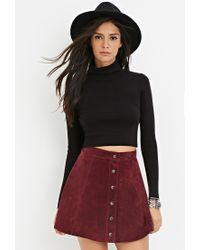 Forever 21 - Black Cropped Turtleneck Sweater - Lyst