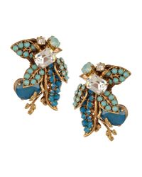 Bijoux Heart - Blue Earrings - Lyst