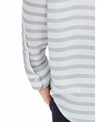 Banana Republic | Gray Striped Boyfriend Shirt | Lyst