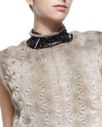 Brunello Cucinelli   Black Agate Choker Necklace   Lyst