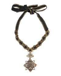 Alberta Ferretti - Black Necklace - Lyst