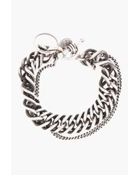 Ann Demeulemeester - Metallic Antiqued Silver Heavy Chain Bracelet for Men - Lyst